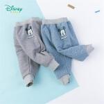 迪士尼Disney童装 男童米奇印花夹棉长裤三层夹棉保暖防寒裤子冬季新品棉裤194K874