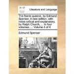 【预订】The Faerie Queene, by Edmund Spenser. a New Edition, wi