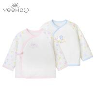 英氏婴儿内衣 男宝宝可爱白色纯棉保暖棉衣和服袍165459