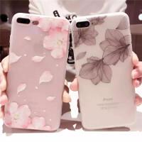 iPhone6保护套 6s彩绘壳 保护壳 保护套 苹果7浮雕彩绘文艺花卉壳 苹果X软壳 磨砂软壳 7plus浮雕磨砂软