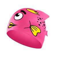 儿童泳帽 卡通游泳帽 硅胶防水泡泡鱼可爱男女童宝宝泳装