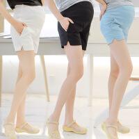 大码夏季外穿薄款打底裤孕妇短裤2018夏装新款孕妇裤韩版宽松