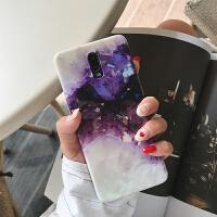 紫色繁星大理石纹oppor17手机壳r15女款r11s全包软套r9splus潮r11