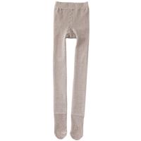 秋冬季保暖加厚加绒灰色连裤袜黑色棉竖条纹微压显打底袜子女