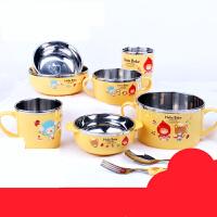 【支持礼品卡】儿童餐具 不锈钢碗防摔保*碗勺套装 婴儿辅食盒iu4