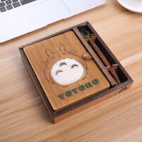 创意可爱学生笔记本文具本子龙猫记事本叮当猫海贼王路飞生日礼物
