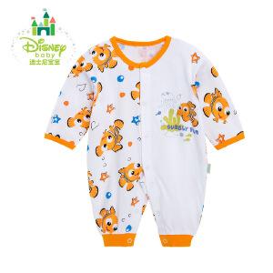 迪士尼Disney婴儿连体衣新生儿衣服四季宝宝哈衣爬服纯棉163L695
