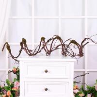 藤条假花花藤壁挂花室内的空调管线缠绕仿真楼梯护栏扶手装饰品 仿真树藤2.5米 随意弯曲造型