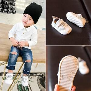 怪怪鹿春秋款0-1宝宝鞋男婴儿鞋不掉脚学步鞋2-3岁女小童软底防滑鞋子单