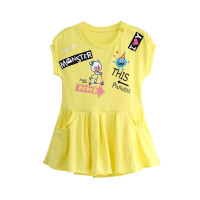 小猪班纳童装宝宝短袖连衣裙2018夏季新款女童裙子女孩儿童公主裙