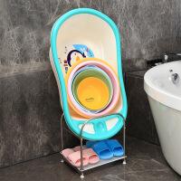 不锈钢脸盆架落地卫生间置物架放浴室盆架厕所洗手间收纳用品用具 不锈钢2层