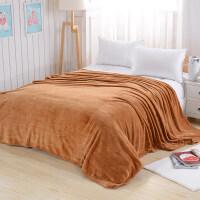 毛毯床单加厚珊瑚绒毯子1.8m单人办公室宿舍学生法兰绒午睡毯被子