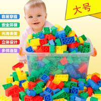 大号乐高式拼插方块积木幼儿园拼装大颗粒早教益智桌面儿童玩具