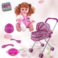 儿童玩具推车小推车带娃娃女孩公主1-3-6周岁宝宝女童过家家套装
