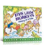 Five Little Monkeys Sitting in a Tree五只小猴子平装正版儿童英文原版绘本 原版英语