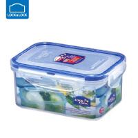 乐扣乐扣保鲜盒塑料微波炉饭盒密封盒便携便当盒水果盒 长方形【600ml】