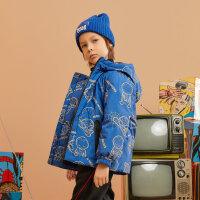 【1件4折价:239.6】moomoo童男童羽绒服冬新款儿童漫威羽绒外套潮酷印花