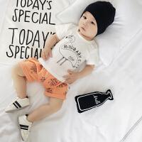 婴儿套装夏装新生儿纯棉短袖*两件套薄款0一3岁宝宝夏季
