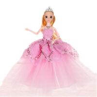 智能会说话的芭比娃娃婚纱公主巴比换装洋娃娃女孩生日礼品玩具