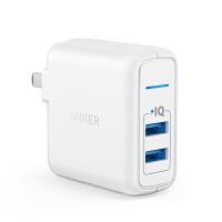 安克新款24W 2口USB充电器插头适用苹果6s华为小米iphoneX 24W2口快充充电器