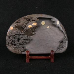端砚梅花坑《众星拱照》砚雕工艺美术师 钟景彬作品