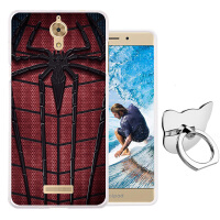 酷派手机套Y803-9保护套Y803-8手机壳Y83-900硅胶软防摔送膜 红色蜘蛛送指环扣贴膜
