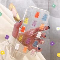 透明手机壳p20卡通nova5可爱pro日韩荣耀v20套清新滴胶软 华为P30 糖果熊滴胶