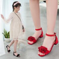 童鞋女童凉鞋新款夏季韩版学生中大童小女孩儿童公主鞋高跟鞋