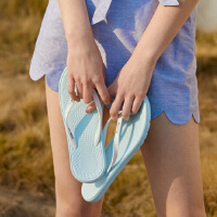 【2件2.5到手价:14.8】美特斯邦威人字拖女士夏时尚外穿平底夹脚沙滩鞋海边百搭凉拖鞋