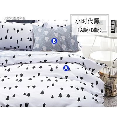 宽幅2.35米棉宝宝布料全棉儿童面料1米起售可定做床品 乳白色 小时代黑A版 发货周期:一般在付款后2-90天左右发货,具体发货时间请以与客服协商的时间为准