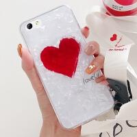 iphone6手机壳苹果6s套六代时尚i6s爱心挂绳lphone硅胶ihpone6s女