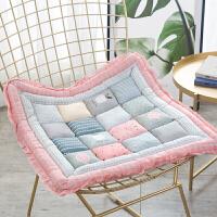 韩式 纯棉全棉坐垫餐桌椅垫子办公学生垫榻榻米家用板凳座垫软垫 48x48cm