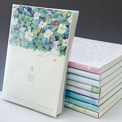 叶品 A5胶套本150页(图案随机)笔记本 加厚记事本 日记本子 当当自营