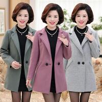 妈妈装毛呢外套中长款30-40-50岁中年春秋呢子大衣春装中老年女装