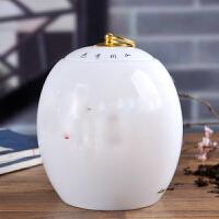 adfenna储茶罐茶饼罐子茶具 陶瓷器摆件大号茶叶罐普洱饼茶盒