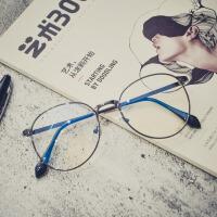 街拍个性防蓝光护目镜复古眼镜框架女配光学眼睛男1