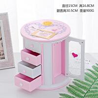 创意圆形三层小抽屉收纳八音盒凯蒂猫KT音乐盒闺蜜儿童节生日礼物