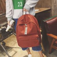 新款韩版双肩包女学院风休闲书包潮中学生背包时尚百搭帆布旅行包