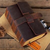 牛皮笔记本日记本复古创意手工定制记事本加厚文具手账万博客户端最新版
