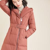 【女王节 活动价:299元】轻薄羽绒服女中长款2018冬新韩版显瘦连帽加厚外套