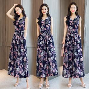 春夏装新款2018女装潮港风套装韩版时尚时髦矮个子洋气质淑女体裤