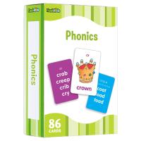自然拼读儿童闪卡 英文原版 Flash Kids Phonics Flash Cards 英语单词学习卡片 英文启蒙高效