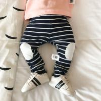 婴儿裤子秋季新生儿纯棉条纹外穿打底裤幼儿百搭韩版宝宝长裤