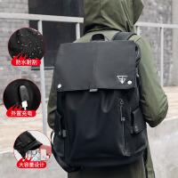 男士双肩包时尚潮流商务休闲电脑旅行简约学生书包韩版潮帆布背包