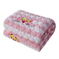 法兰绒毯子珊瑚绒床单单件毛毯法莱绒双层夹棉加厚冬季双人单人薄