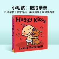 #英文原版绘本 Huggy Kissy 拥抱亲吻 一根毛小毛孩小脏孩系列 名家Leslie Patricelli 幼儿启