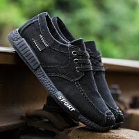 秋季男士帆布鞋韩版透气板鞋男老北京布鞋休闲鞋子夏天工作男鞋子