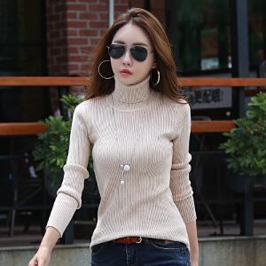 高领毛衣女秋装新款上衣女修身显瘦内搭针织打底衫女装薄款
