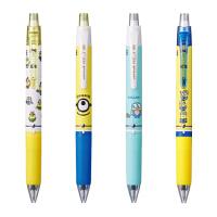 日本UNI三菱可擦笔学生用小黄人限量3色按动可擦笔小学生用3-5年级彩色摩磨擦中性笔超萌可爱进口热温控水笔