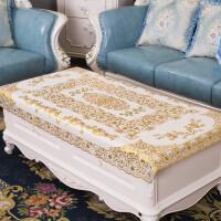 烫金PVC桌布防水防油欧式茶几桌布长方形银白台布加厚不镂空桌垫 大号